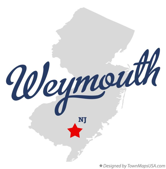Map of Weymouth New Jersey NJ