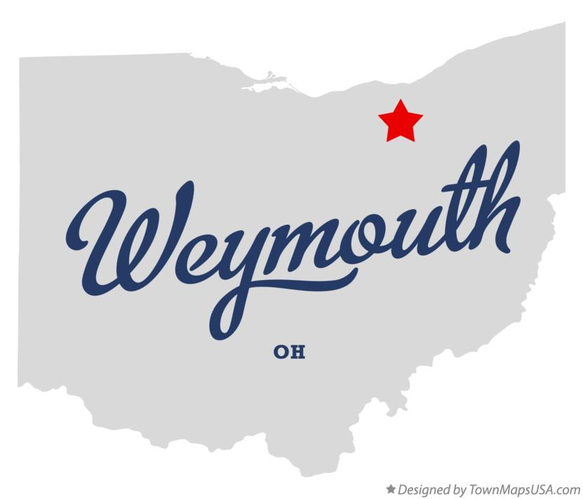 Map of Weymouth Ohio OH