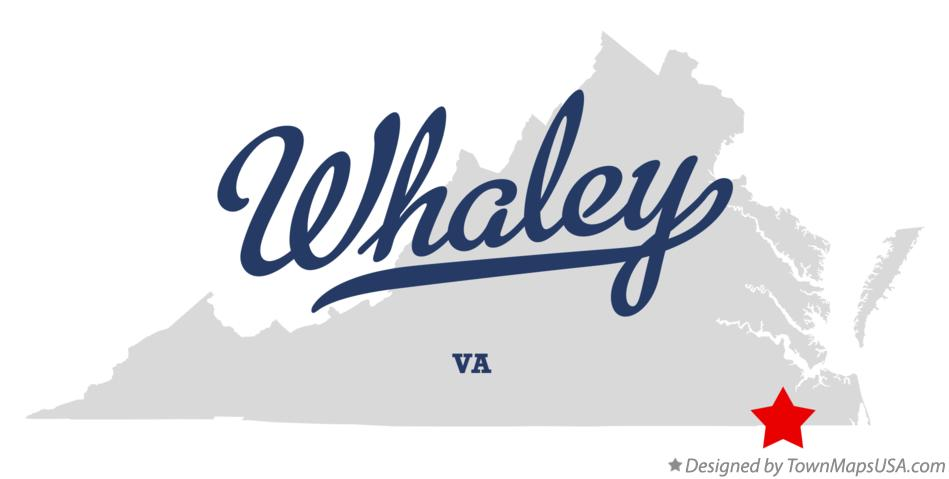 Map of Whaley Virginia VA
