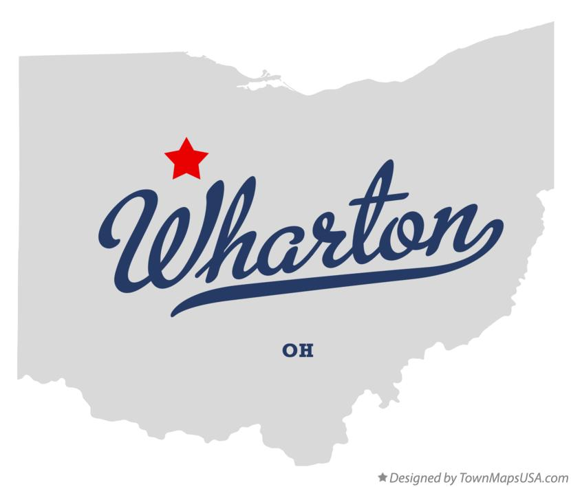 Map of Wharton Ohio OH