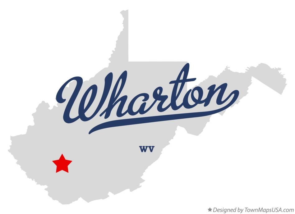 Map of Wharton West Virginia WV