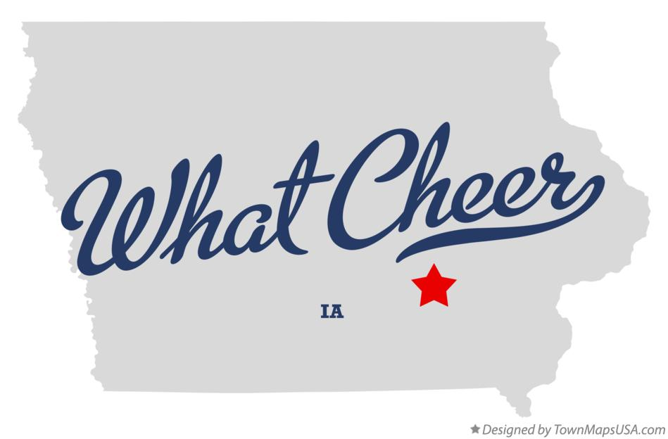 Map of What Cheer Iowa IA