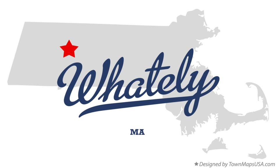 Map of Whately Massachusetts MA