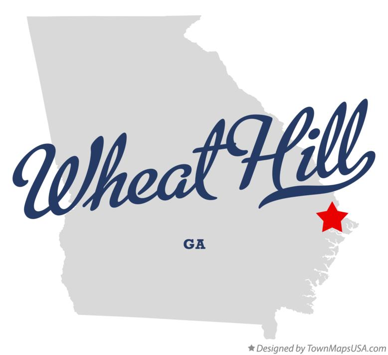 Map of Wheat Hill Georgia GA