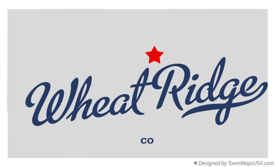 Map of Wheat Ridge Colorado CO