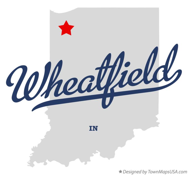 Map of Wheatfield Indiana IN