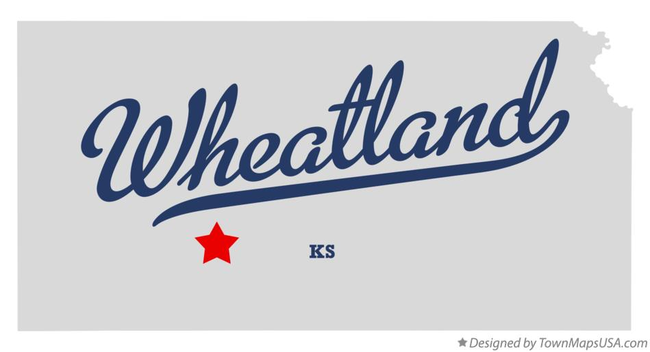 Map of Wheatland Kansas KS