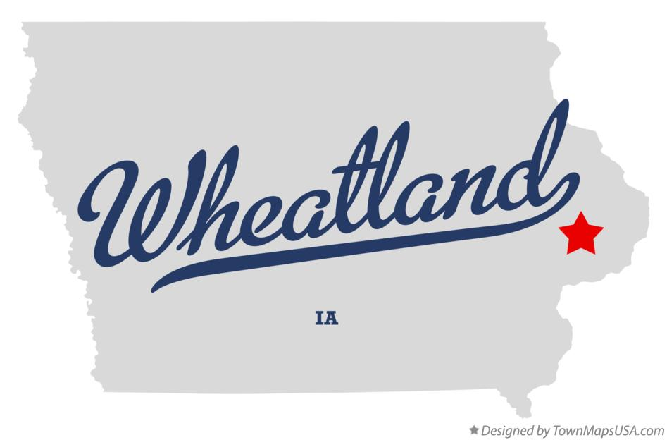 Map of Wheatland Iowa IA