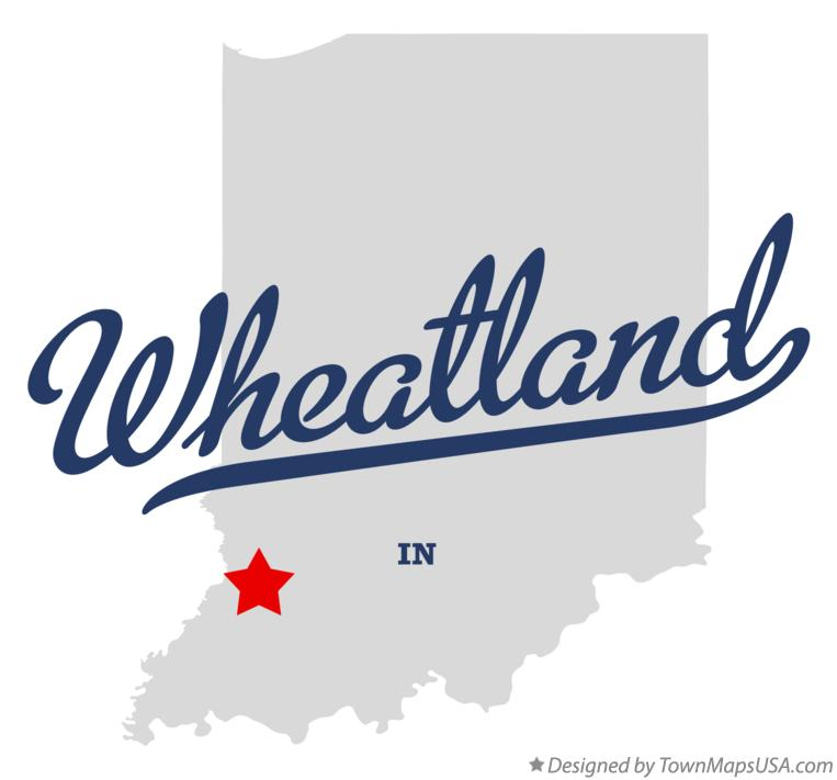 Map of Wheatland Indiana IN