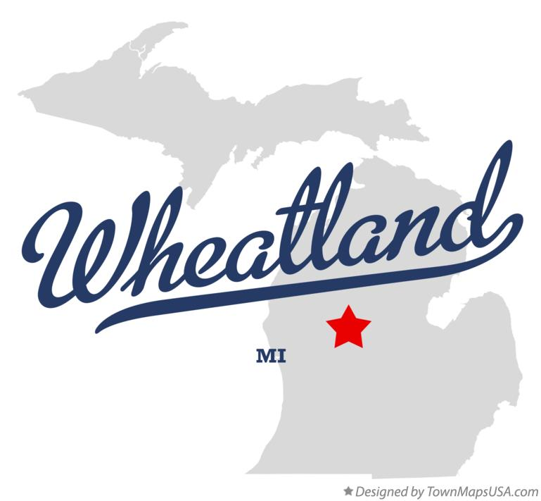 Map of Wheatland Michigan MI