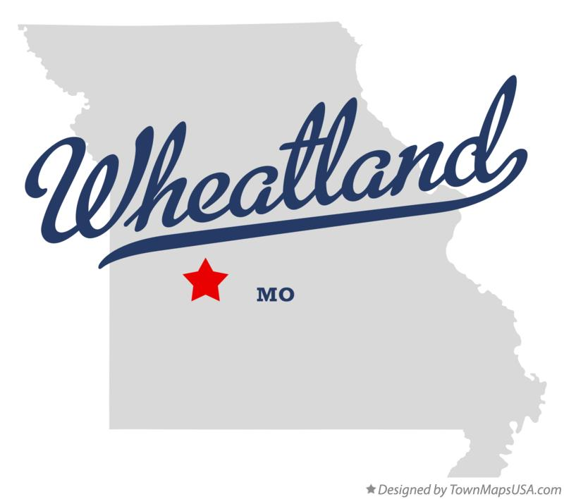 Map of Wheatland Missouri MO