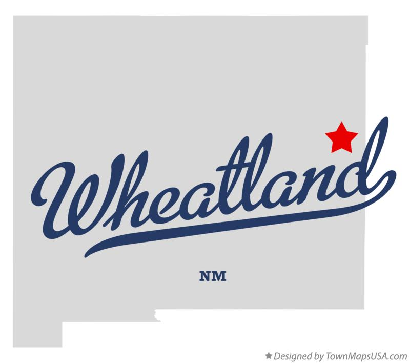 Map of Wheatland New Mexico NM
