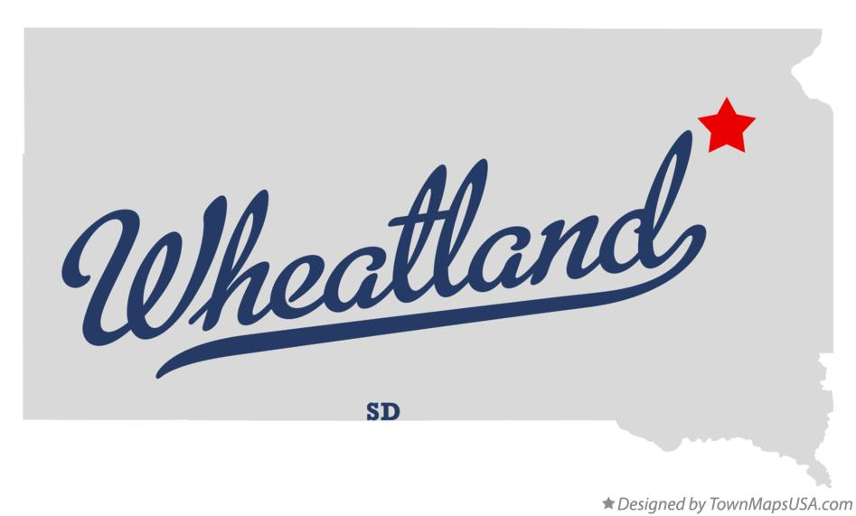 Map of Wheatland South Dakota SD
