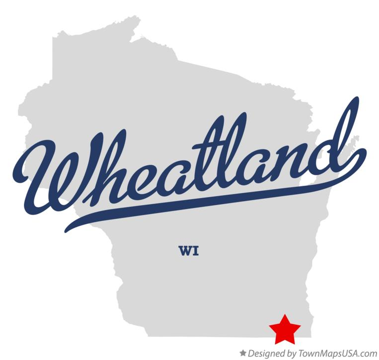 Map of Wheatland Wisconsin WI