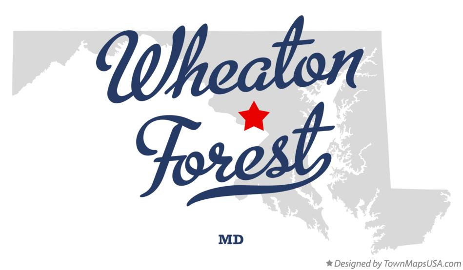Map of Wheaton Forest Maryland MD