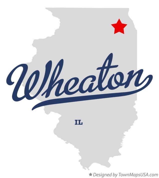 Map of Wheaton, IL, Illinois