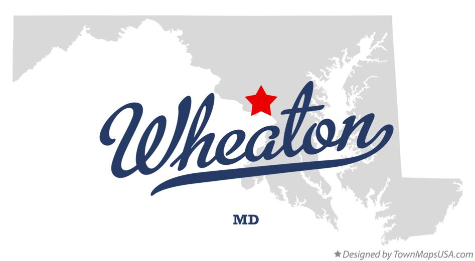 Map of Wheaton Maryland MD