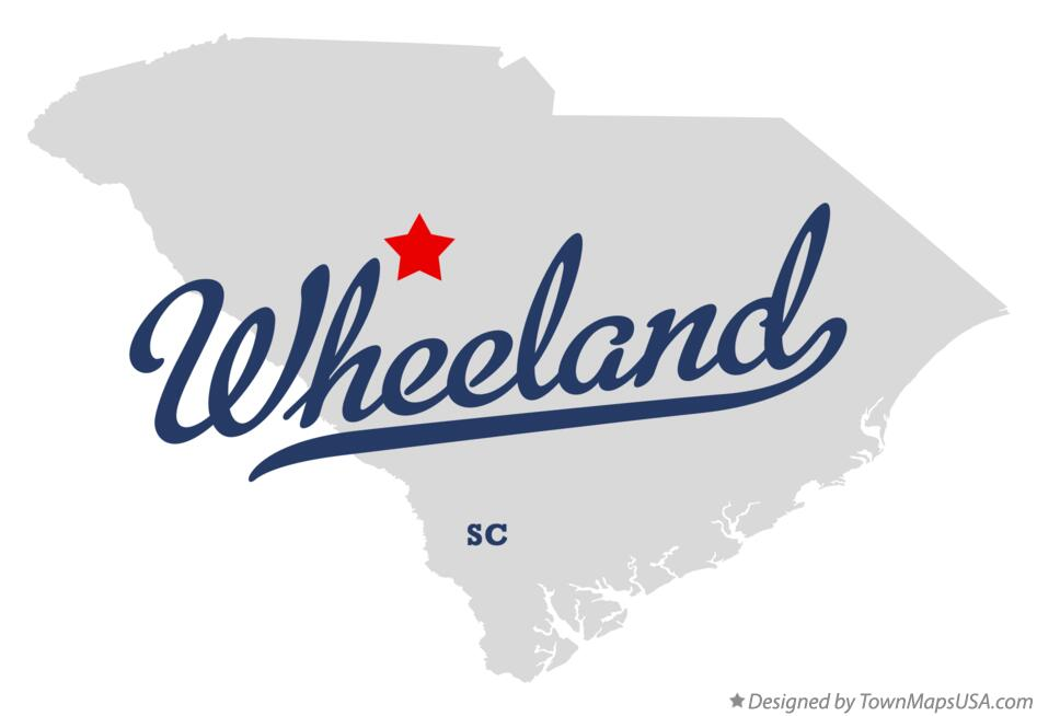 Map of Wheeland South Carolina SC