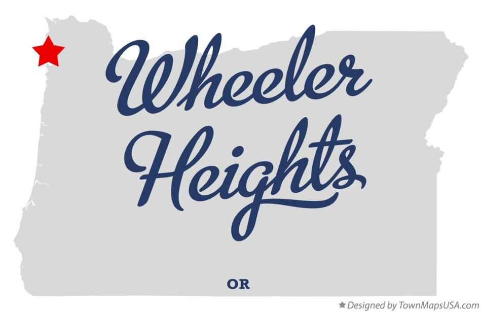 Map of Wheeler Heights Oregon OR