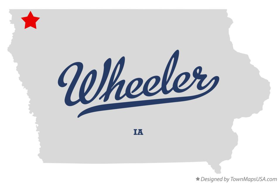 Map of Wheeler Iowa IA