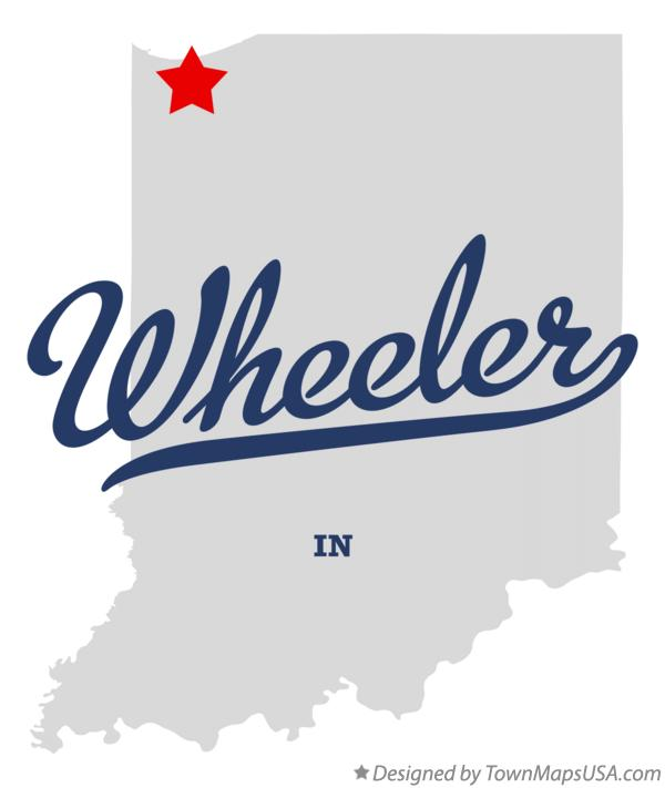 Map of Wheeler Indiana IN