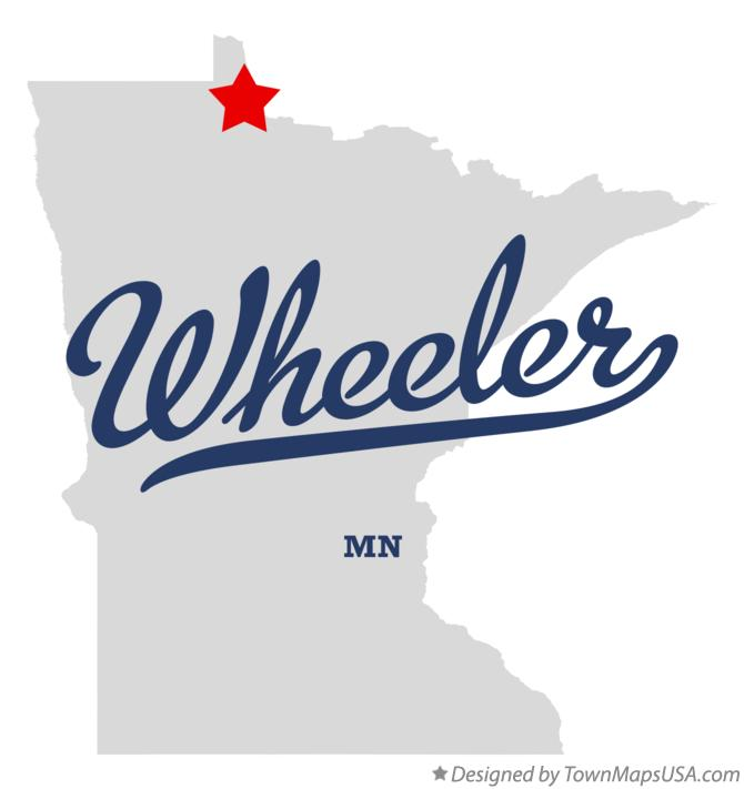 Map of Wheeler Minnesota MN