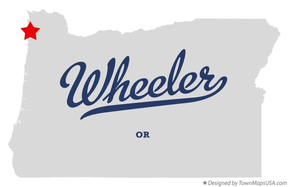 Wheeler Oregon Map.Map Of Wheeler Or Oregon