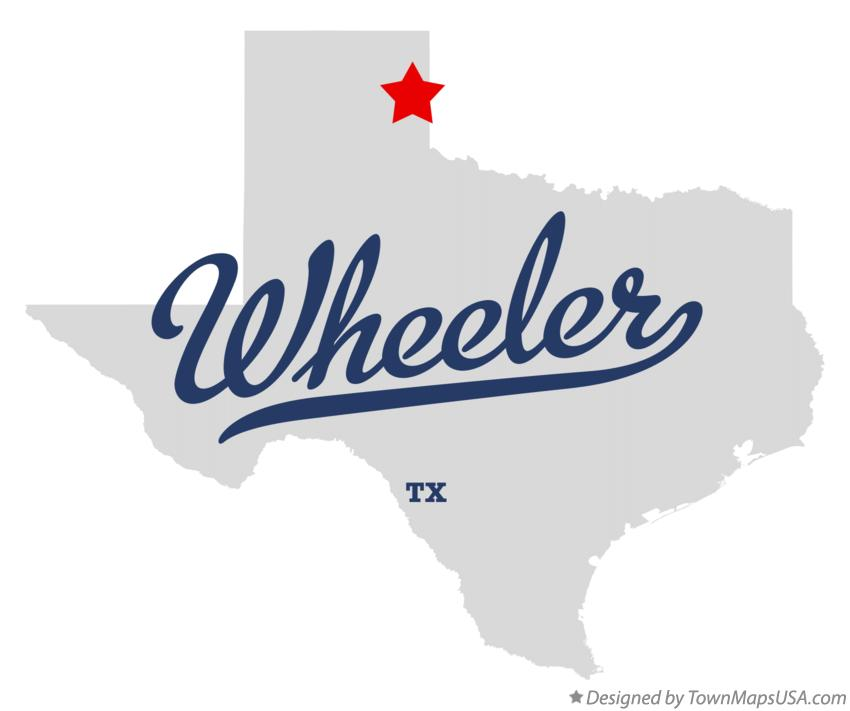 Map of Wheeler Texas TX