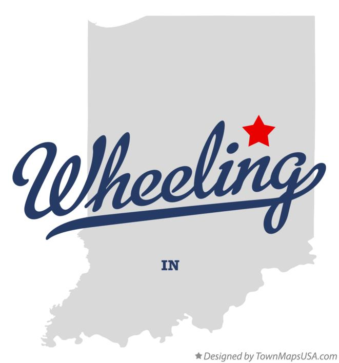 Map of Wheeling Indiana IN