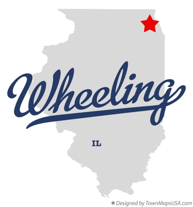 Map of Wheeling, IL, Illinois