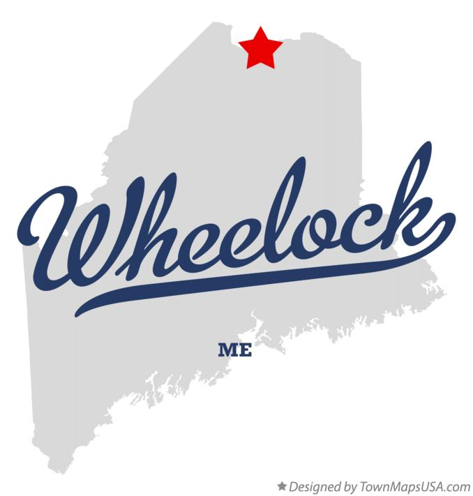 Map of Wheelock Maine ME