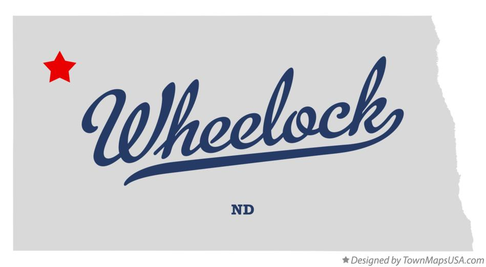 Map of Wheelock North Dakota ND