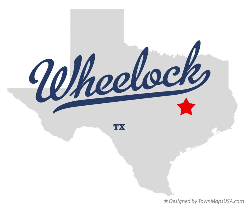 Map of Wheelock Texas TX