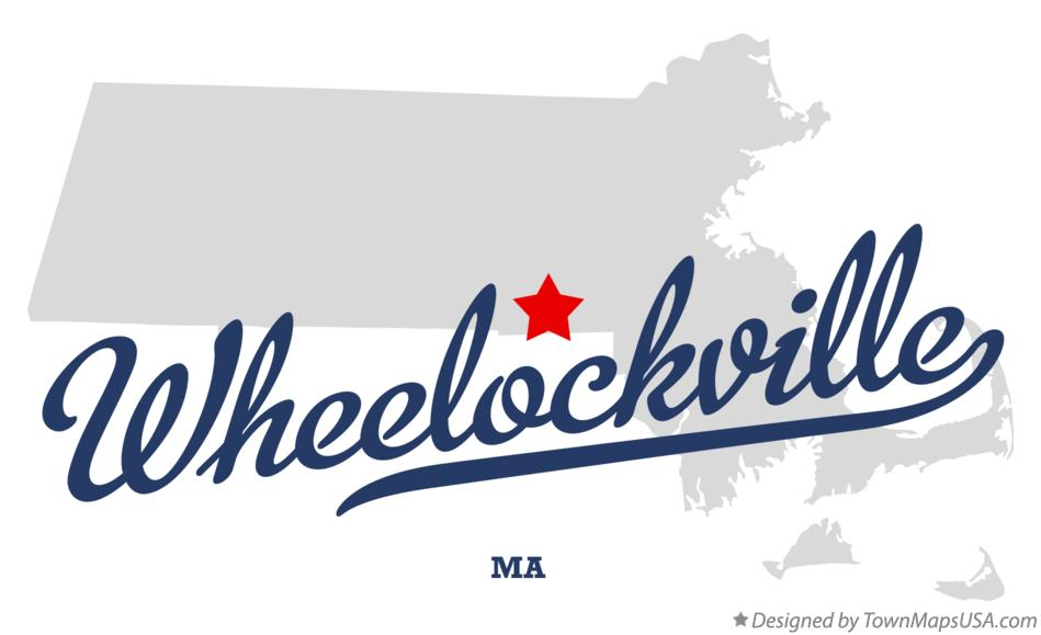 Map of Wheelockville Massachusetts MA