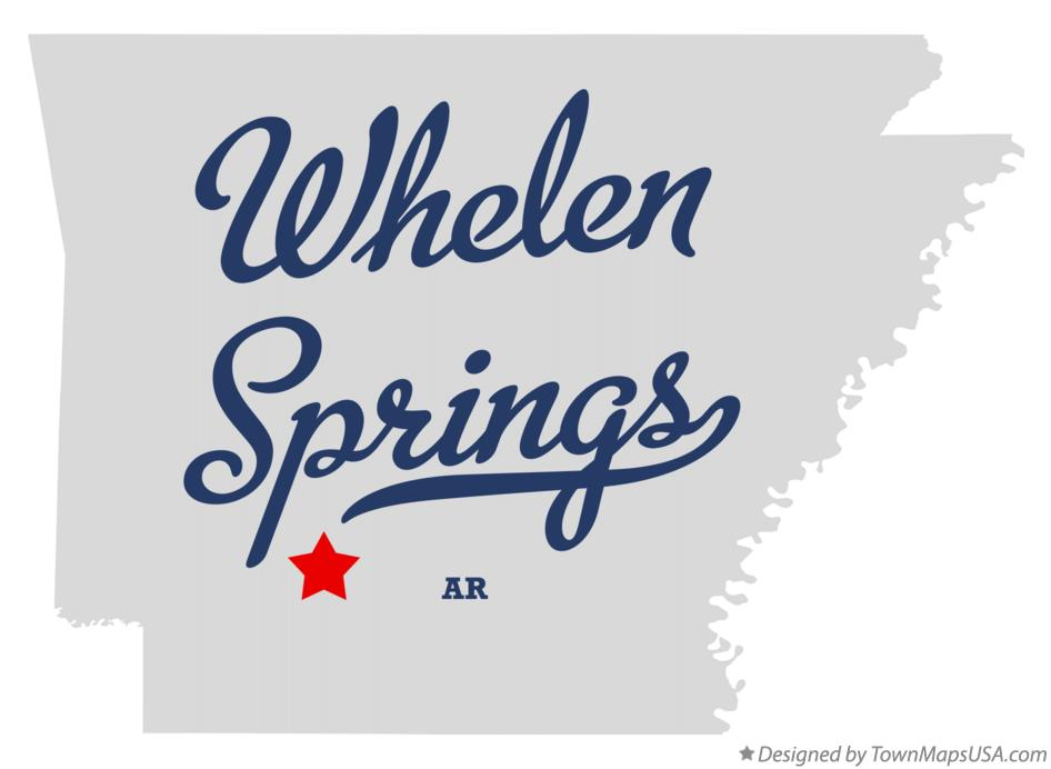 Map of Whelen Springs Arkansas AR