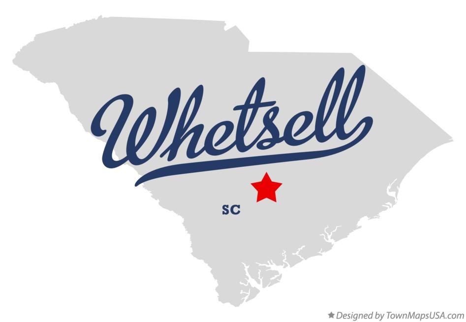Map of Whetsell South Carolina SC