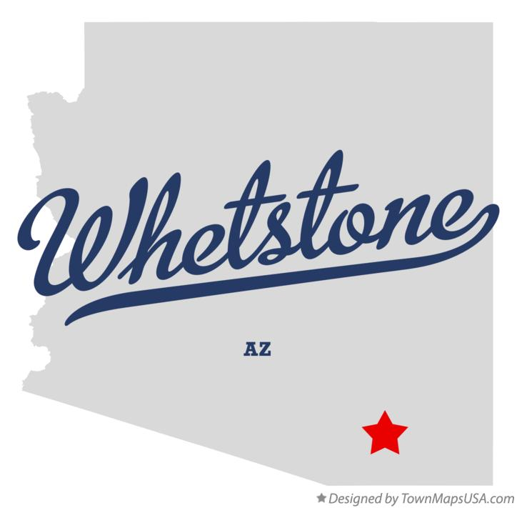 Map of Whetstone Arizona AZ