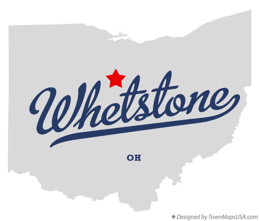 Map of Whetstone Ohio OH