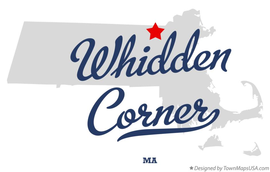 Map of Whidden Corner Massachusetts MA