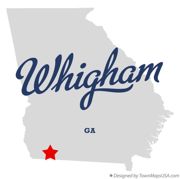 Map of Whigham Georgia GA