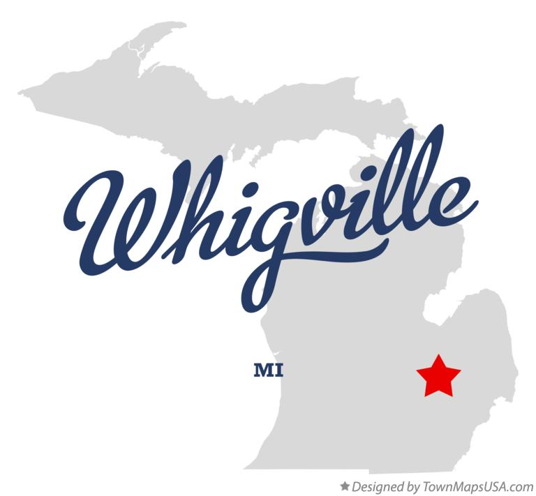Map of Whigville Michigan MI