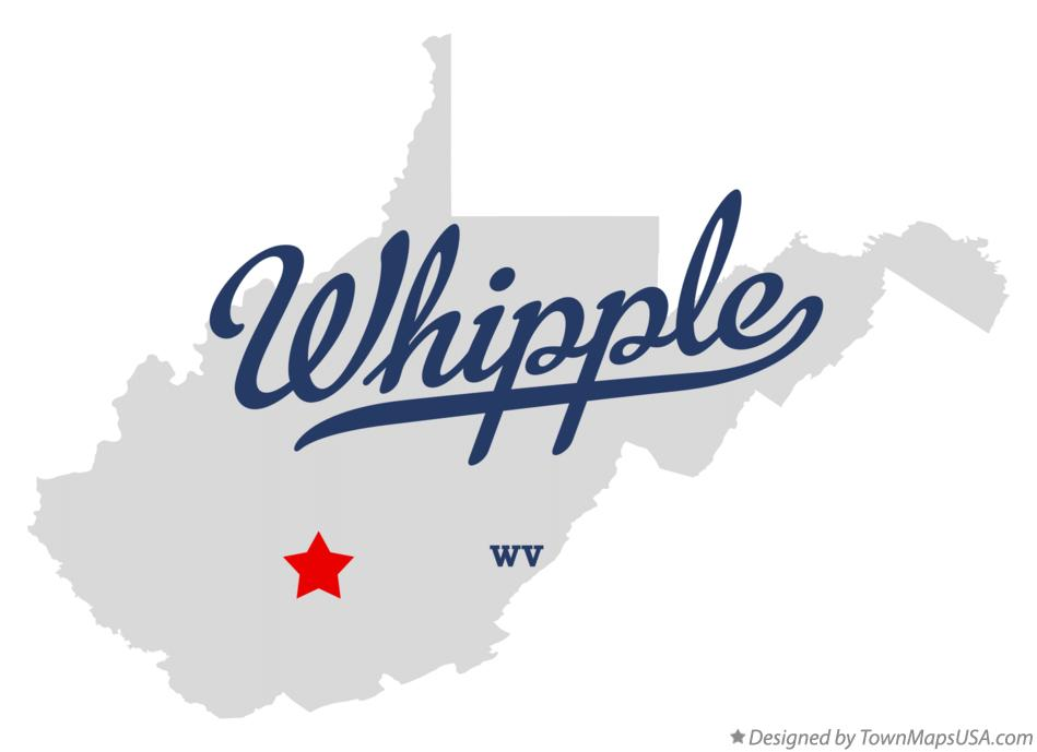 Map of Whipple West Virginia WV