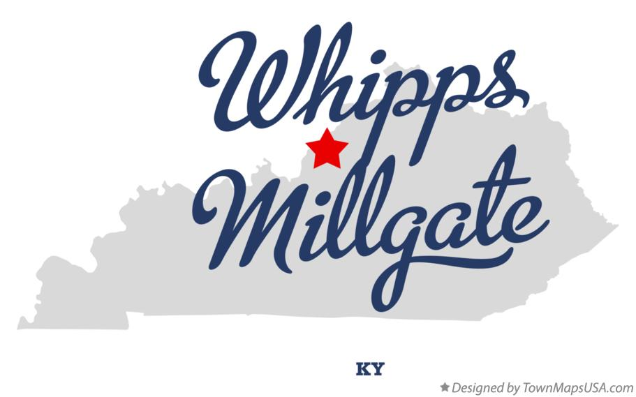 Map of Whipps Millgate Kentucky KY