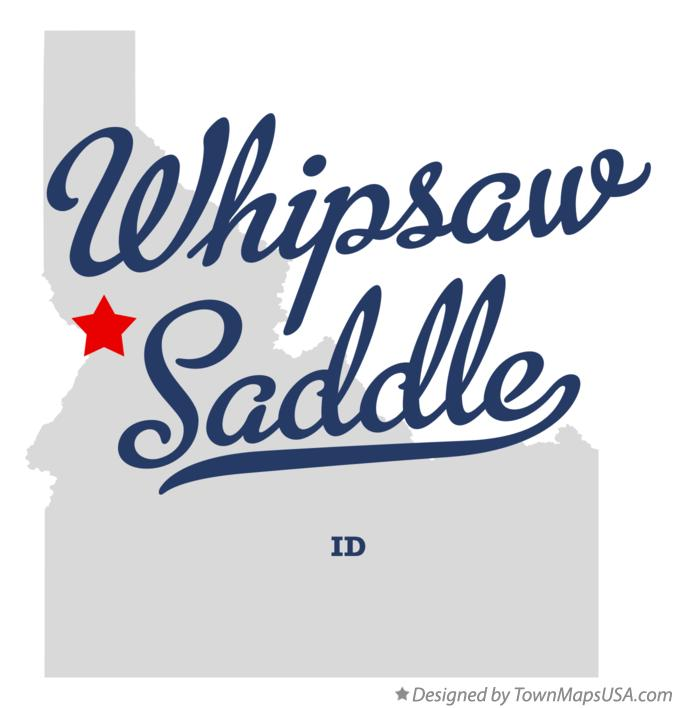 Map of Whipsaw Saddle Idaho ID