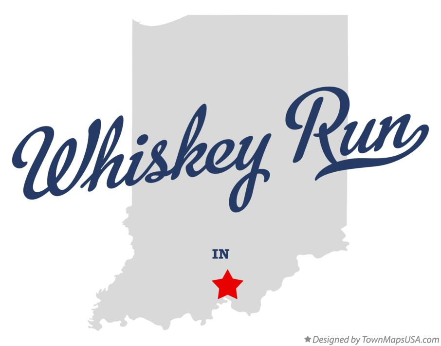 Map of Whiskey Run Indiana IN