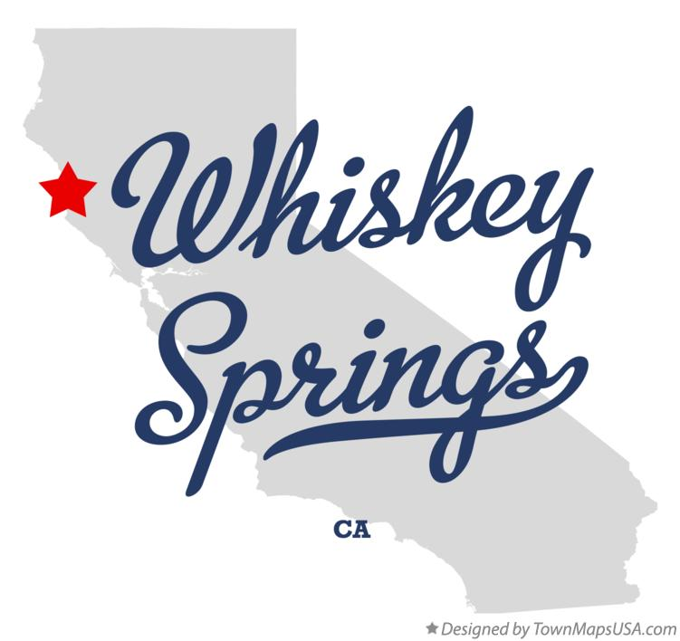 Map of Whiskey Springs California CA