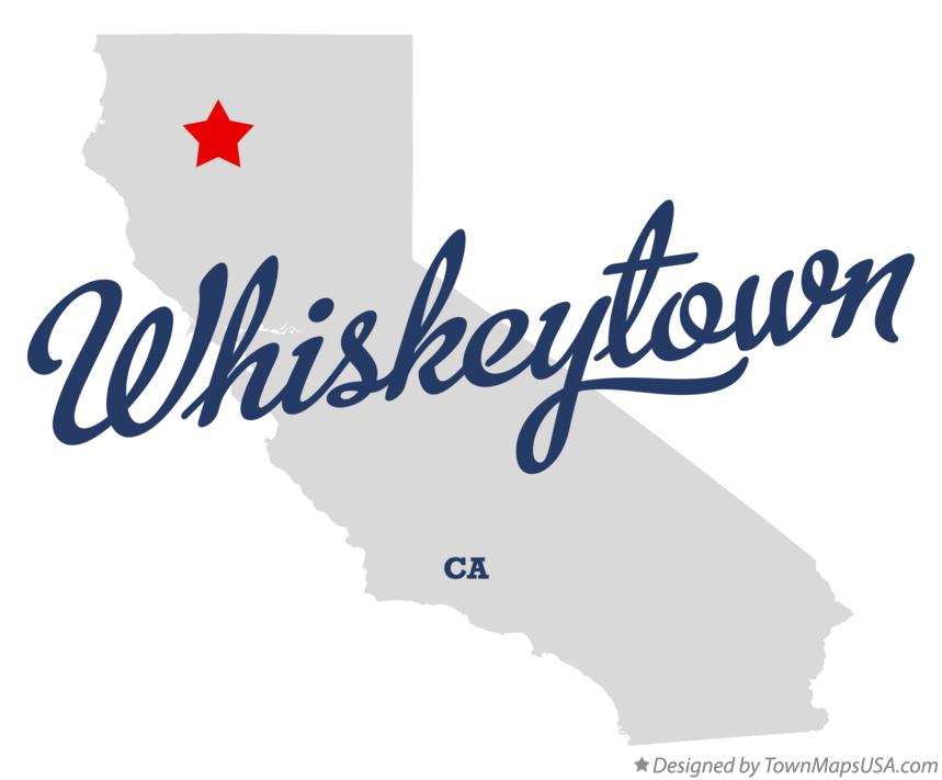 Map of Whiskeytown California CA
