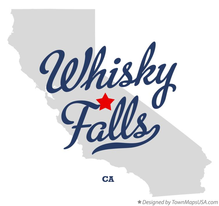 Map of Whisky Falls California CA