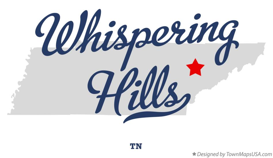 Map of Whispering Hills Tennessee TN