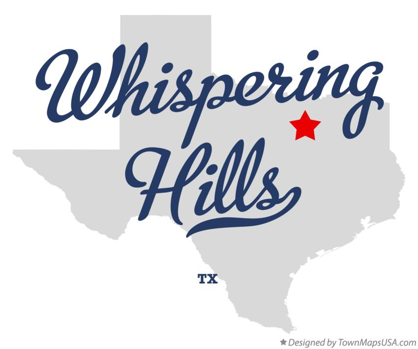 Map of Whispering Hills Texas TX